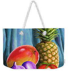 Three Fruits And A Vegetable Weekender Tote Bag