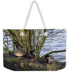 Three In A Row Weekender Tote Bag by Spikey Mouse Photography