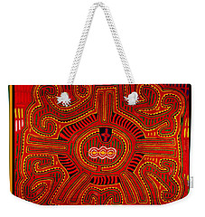 Weekender Tote Bag featuring the digital art Three Layers Of The World by Vagabond Folk Art - Virginia Vivier