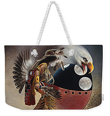 Three Moon Eagle Weekender Tote Bag