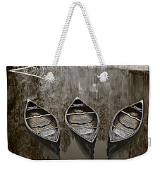 Three Old Canoes Weekender Tote Bag