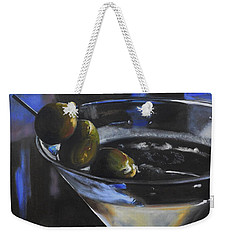 Three Olive Martini Weekender Tote Bag by Donna Tuten