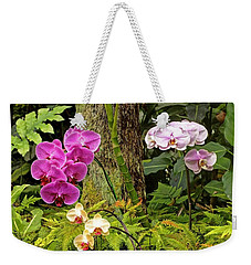 Three Orchid And A Tree Weekender Tote Bag