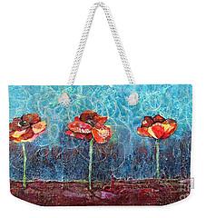 Three Poppies Weekender Tote Bag by Shadia Derbyshire