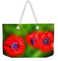 Three Red Popies  Weekender Tote Bag