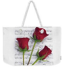 Three Rose Music Duvet Weekender Tote Bag