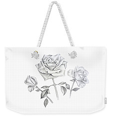 Three Roses Weekender Tote Bag by Elizabeth Lock