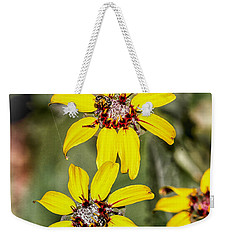 Three Sister Wildflowers Weekender Tote Bag