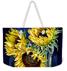 Three Sunny Flowers Weekender Tote Bag