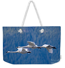 Three Swans Flying Weekender Tote Bag