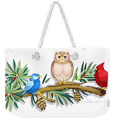 Three Watchful Friends Weekender Tote Bag