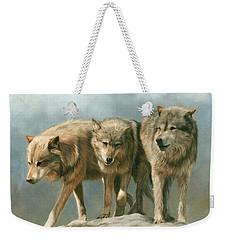 Three Wolves Weekender Tote Bag