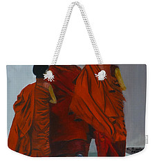 Three Young Monks Weekender Tote Bag