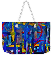 Weekender Tote Bag featuring the painting Anchored In Art by Lisa Kaiser