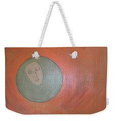 Weekender Tote Bag featuring the painting Through A Mirror Darkly by Sharyn Winters
