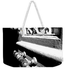 Weekender Tote Bag featuring the photograph Through An Open Door Into Darkness by Vicki Spindler