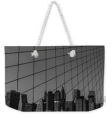 Through Brooklyn Bridge Weekender Tote Bag by Chris Fletcher