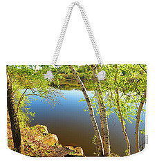Through The Birch Weekender Tote Bag