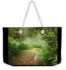 Weekender Tote Bag featuring the photograph Through The Forest At Water's Edge by Absinthe Art By Michelle LeAnn Scott