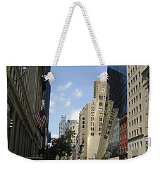 Weekender Tote Bag featuring the photograph Through The Looking Glass by Meghan at FireBonnet Art