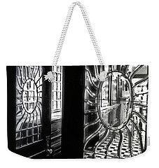 Through The Lookinglass And Onto The Checkerboard Weekender Tote Bag by Robert McCubbin