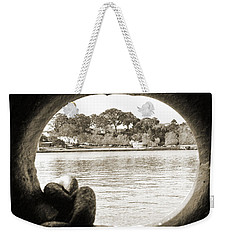 Through The Porthole Weekender Tote Bag by Holly Blunkall