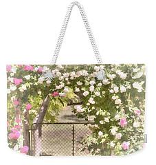 Through The Rose Arbor Weekender Tote Bag by Elaine Teague