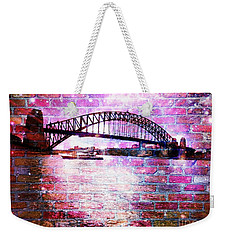 Weekender Tote Bag featuring the photograph Sydney Harbour Through The Wall 1 by Leanne Seymour