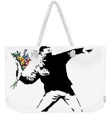 Throwing Love Weekender Tote Bag by Munir Alawi