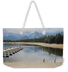 Throwing Rocks Weekender Tote Bag