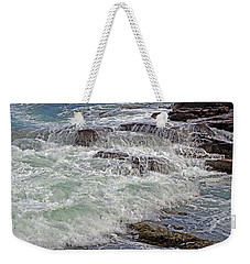 Weekender Tote Bag featuring the photograph Thunder And Lace by Lynda Lehmann
