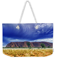 Weekender Tote Bag featuring the photograph Thunder Rock by Holly Kempe