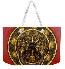 Tibetan Door Knocker Weekender Tote Bag