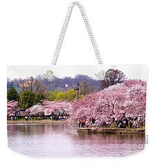 Tidal Basin Cherry Trees And Arlington House Weekender Tote Bag by Patti Whitten