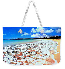 Weekender Tote Bag featuring the painting Tidal Lace by Sophia Schmierer