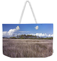 Weekender Tote Bag featuring the photograph Tidal Marsh On Roanoke Island by Greg Reed