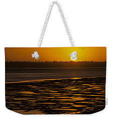 Weekender Tote Bag featuring the photograph Tidal Pattern At Sunset by Jeff Goulden
