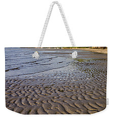 Weekender Tote Bag featuring the photograph Tidal Pattern In The Sand by Jeff Goulden