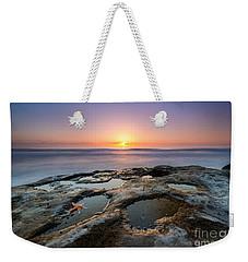 Tide Pool Sunset Weekender Tote Bag by Michael Ver Sprill