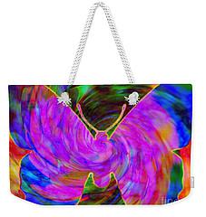 Tie-dye Butterfly Weekender Tote Bag