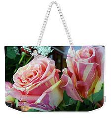 Tie Dye Roses Weekender Tote Bag