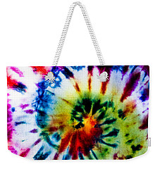 Tie Dyed T-shirt Weekender Tote Bag by Cheryl Baxter