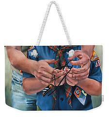 Ties That Bind Weekender Tote Bag by Lori Brackett