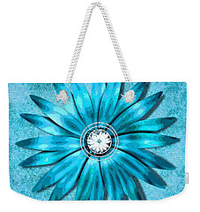 Tiffany Blue And Diamonds Too Weekender Tote Bag by Saundra Myles