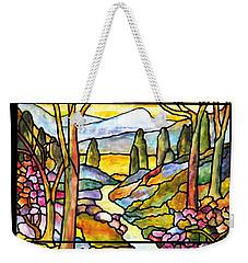 Tiffany Landscape Window Weekender Tote Bag