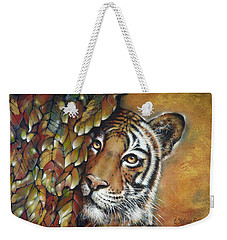 Tiger 300711 Weekender Tote Bag by Selena Boron