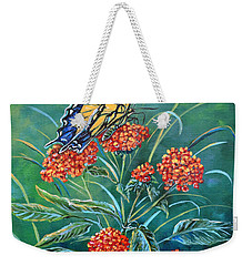 Tiger And Lantana Weekender Tote Bag