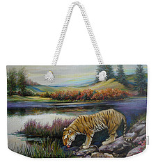 Tiger By The River Weekender Tote Bag