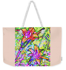 Tiger Lillies Weekender Tote Bag by Ian  MacDonald