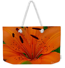 Weekender Tote Bag featuring the photograph Tiger Lily by Bianca Nadeau